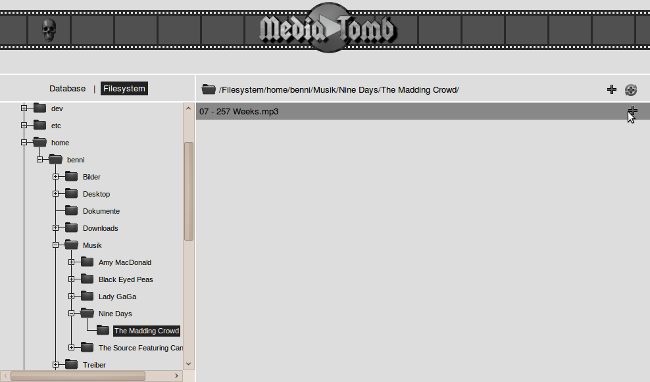 Mediatomb Dateibrowser
