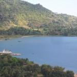 Bucht von Mbamba Bay mit unserem Schiff, der MV Songea