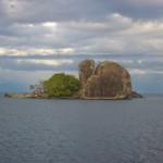 Felsen irgendwo im Malawi See