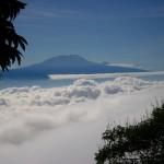 Wolkendecke mit Kilimanjaro