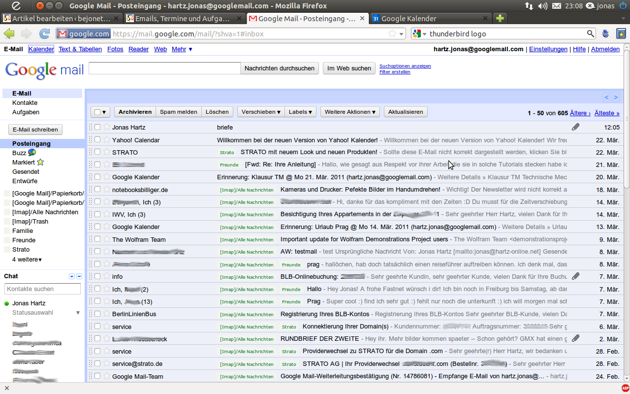 GMail-Webfrontend