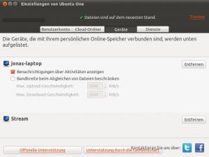 UbuntuOne Geräte-Liste