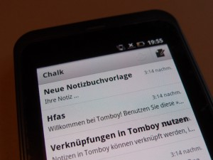 Chalk auf Android