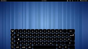 Gnome Shell mit Bildschirmtastatur