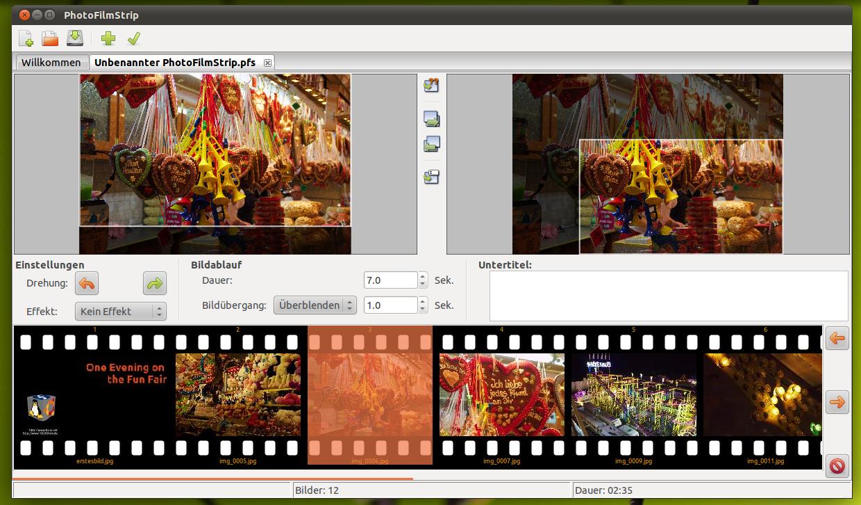 PhotoFilmStrip mit intuitiver Bedienoberfläche