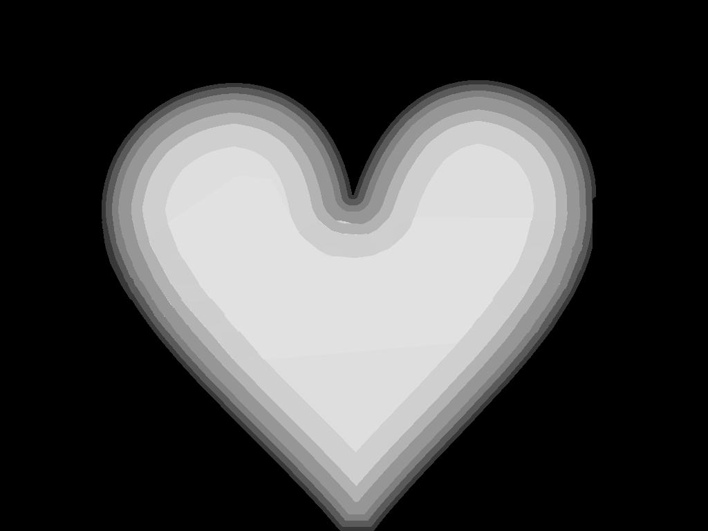 Herz in Graustufen
