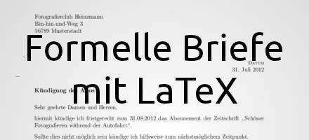 Formellen Brief Mit Latex Und G Brief2 Setzen Latex 2017 Bejonet