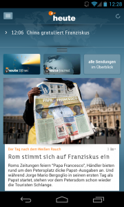 Die ZDFheute Startseite