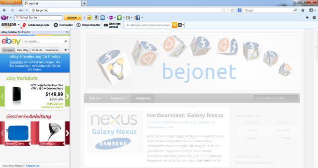 Toolbars behindern stark die Sicht auf die Internetseiten