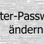 Router-Passwort ändern