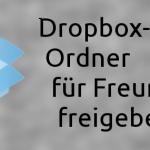 Dropbox: Öffentlichen Ordner erstellen