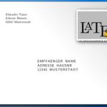 Briefumschlag drucken mit LaTeX