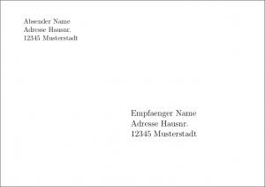 C6 Umschlag manuell gesetzt mit Scrlttr2