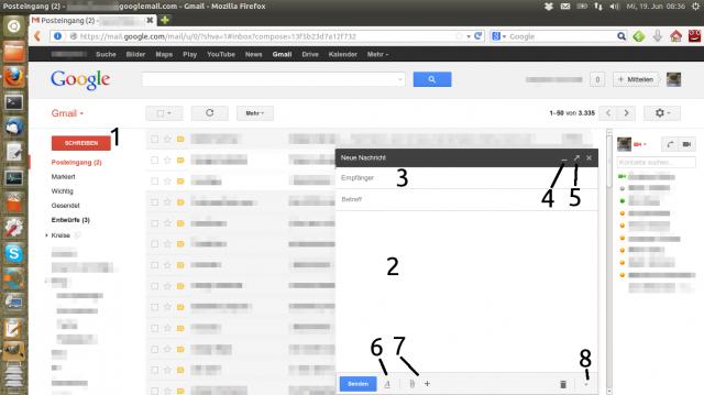 Der neue Gmail-Editor im Überblick (klicken zum Maximieren)