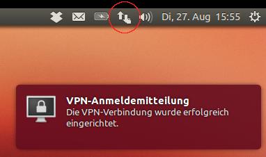 VPN-Verbindung hergestellt