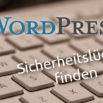 Wordpress Sicherheitslücken finden